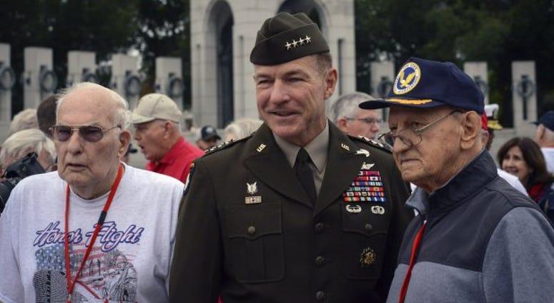 Veterans from Honor Flight Savannah met with Gen. James C. McConville