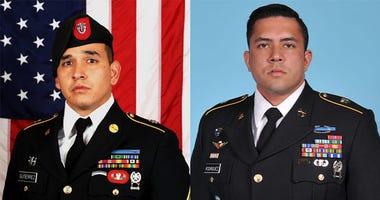 Sgt. 1st Class* Javier Jaguar Gutierrez, 28, of San Antonio, Texas.  Sgt. 1st Class and Antonio Rey Rodriguez, 28, of Las Cruces, New Mexico.