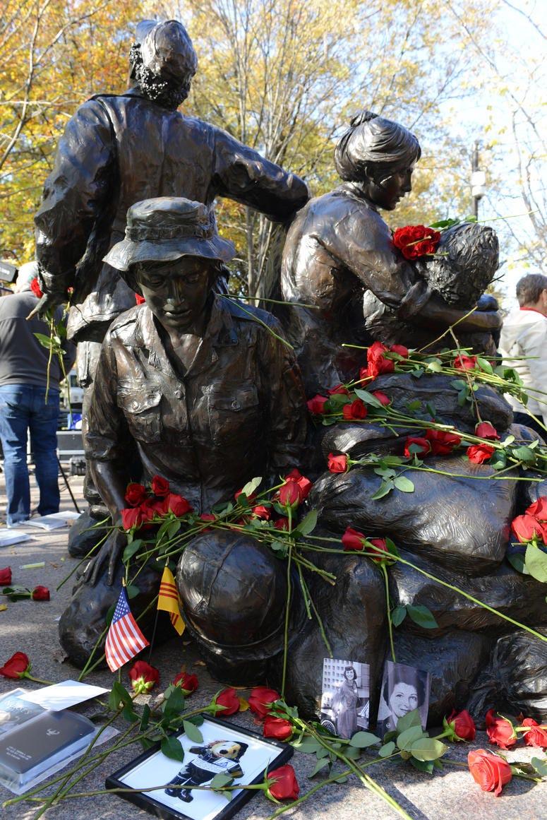 The Vietnam Women's Memorial is seen on Veterans Day, Washington, D.C., Nov. 11, 2013.