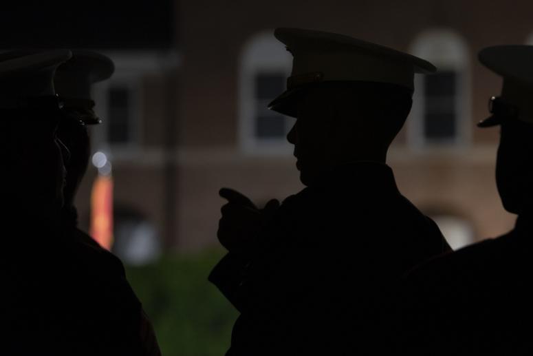 The United States Marine Corps holds an Evening Parade at Marine Barracks, Washington, D.C., May 10, 2019