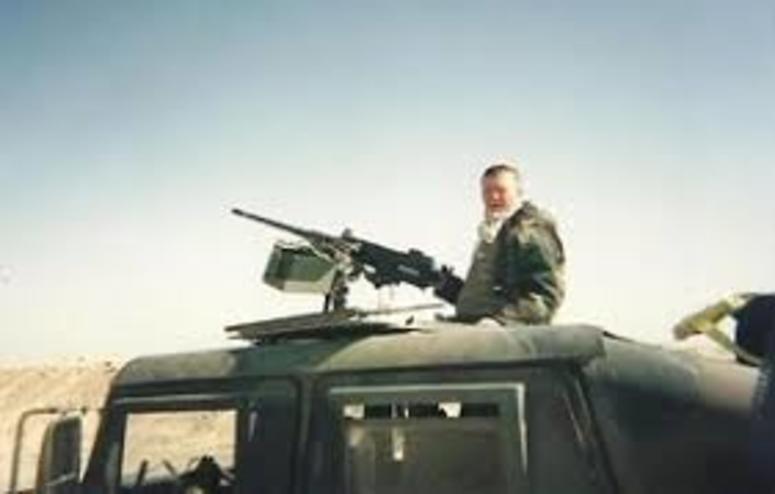 USMC vet Tim Wynn during a deployment to Iraq