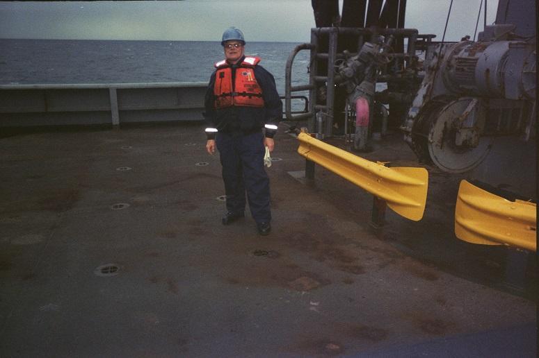 Blue Water Navy Vietnam veteran Lloyd Granaas aboard a military sea lift command ship