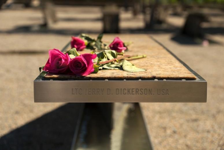 Pentagon Memorial bench