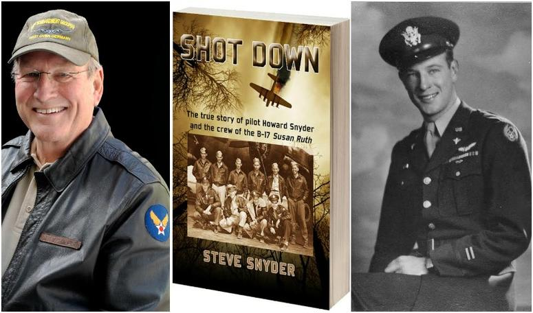 Author Steve Snyder and his father Howard Snyder B-17 pilot