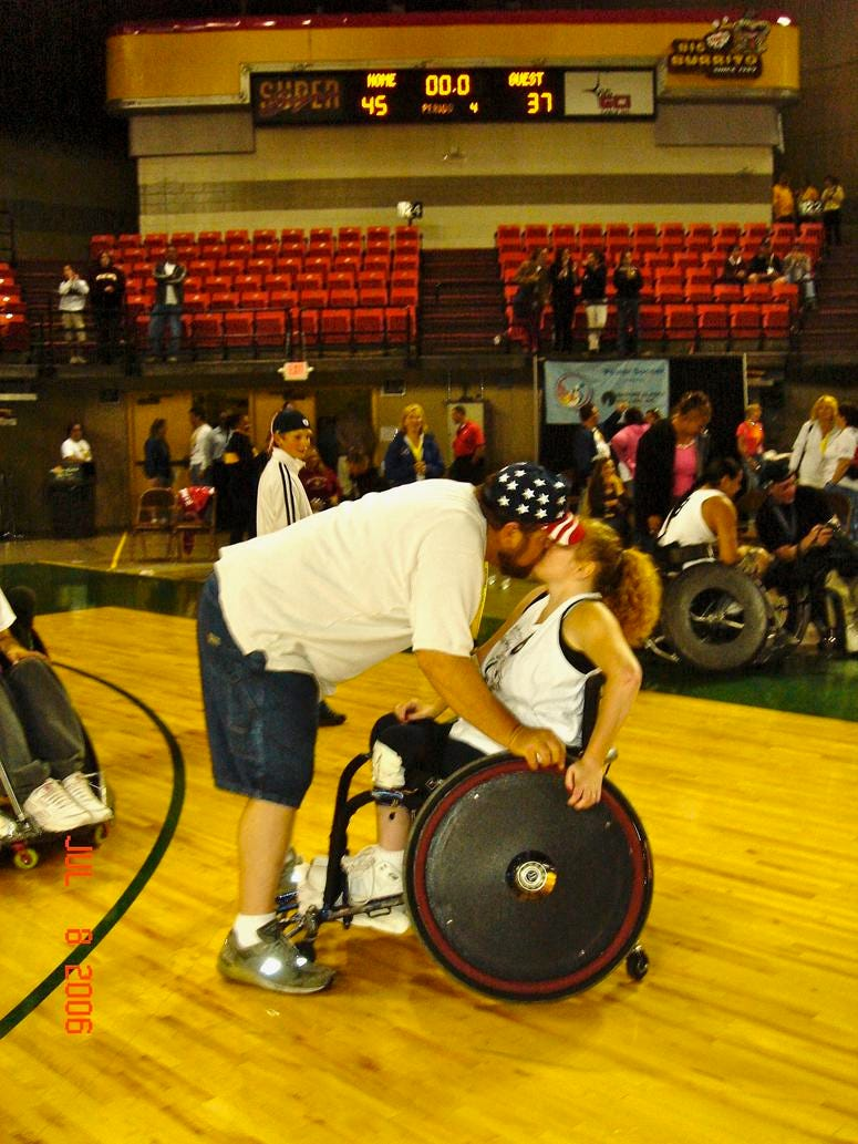 Dale, male military caregiver for his wife Tammy Jones, national president for Paralyzed Veterans of America