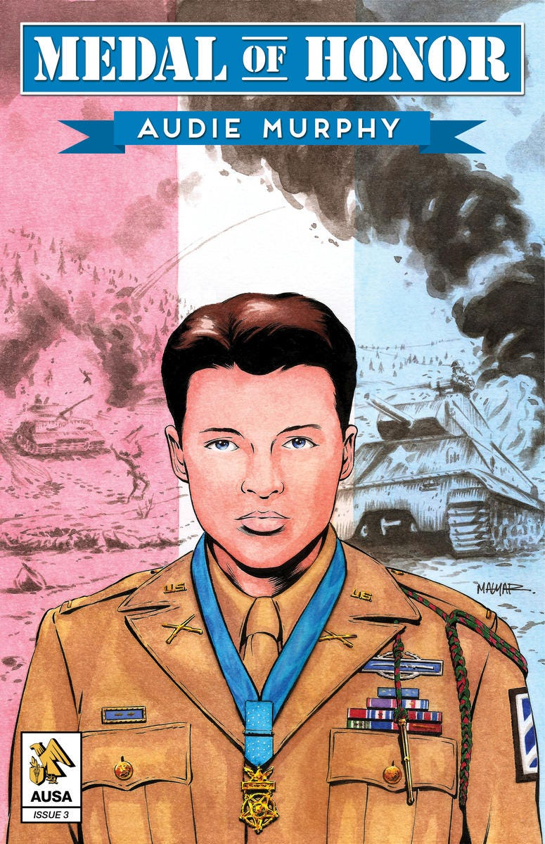 Audie Murphy comic cover