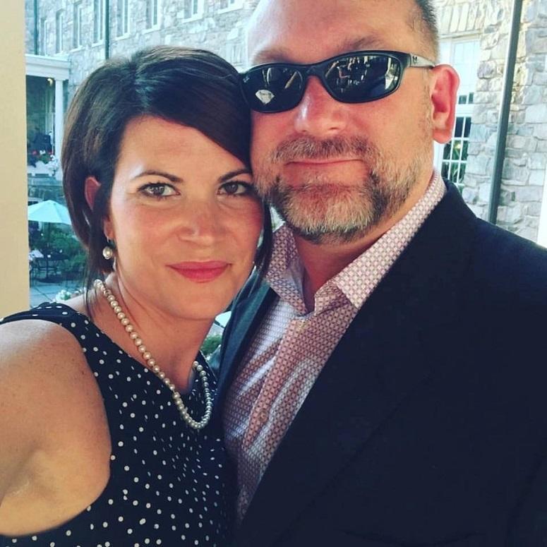 Marine Corps veteran Jake Messier with his wife, Air Force veteran Nicole