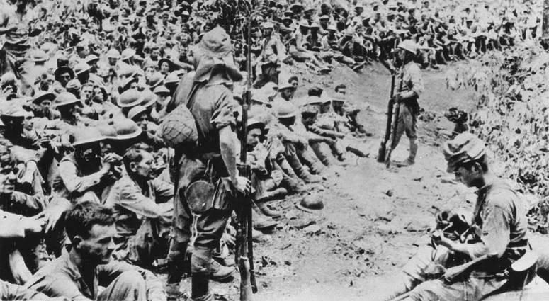World War II US Soldiers surrender