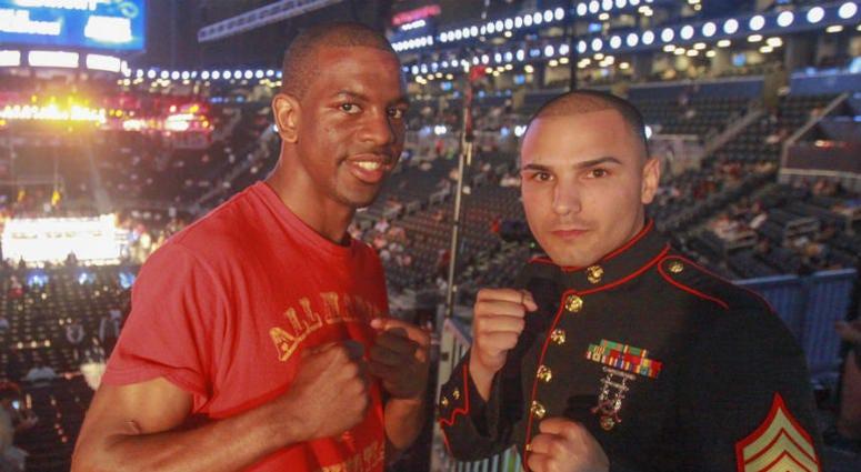 Marine Corps veteran Jamel Herring wins WBO  junior lightweight world champion.