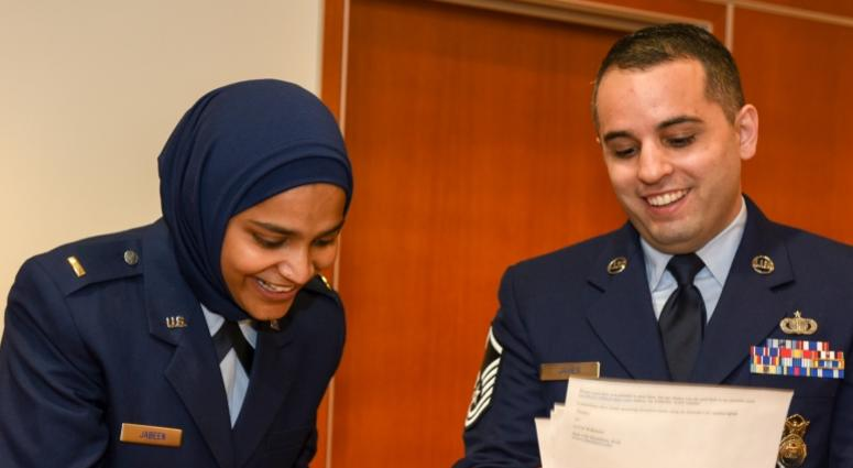 Air Force commissions first female Muslim chaplain AIR FORCE COMMISSIONS FIRST FEMALE MUSLIM CHAPLAIN