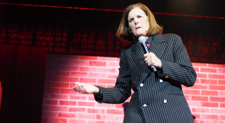 Paula Poundstone performs at USO Takeover at The Wharf
