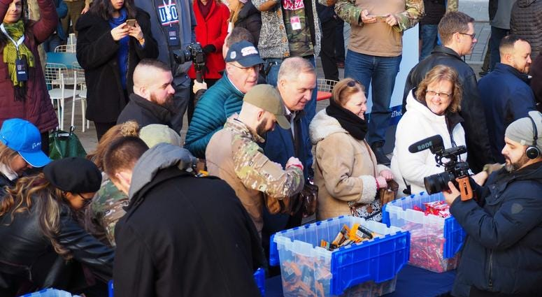 USO Care Package Stuffing