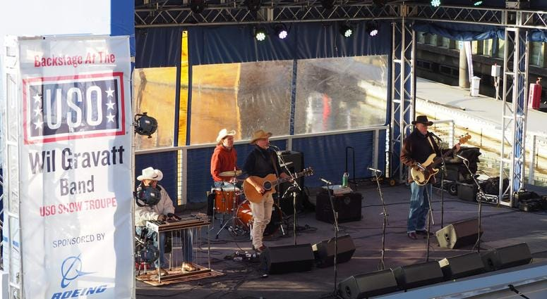Will Gravatt Band performs at USO Takeover at The Wharf