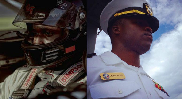 Jesse Iwuji, Navy Lt. and NASCAR driver