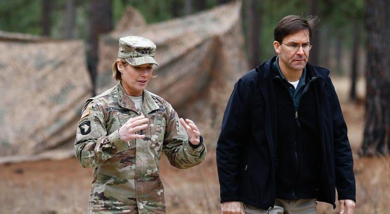 Lt. Gen. Lauran Richardson with Secretary of the Army at Fort Bragg, North Carolina