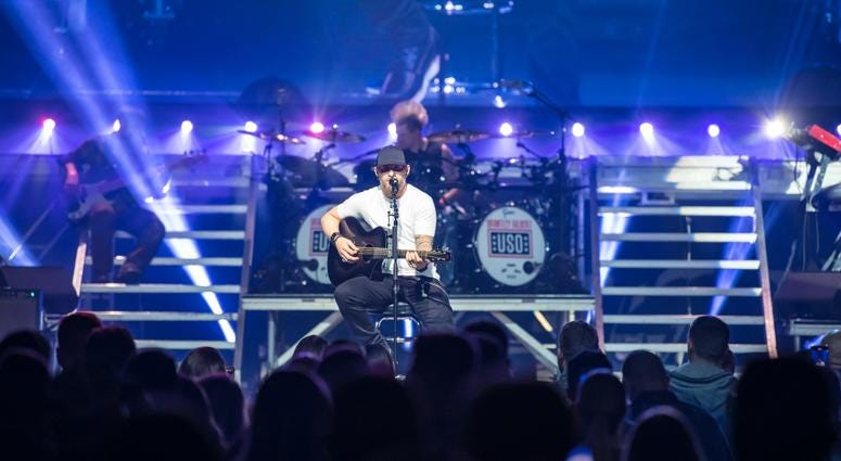 Brantley Gilbert performs at USO Takeover at The Wharf