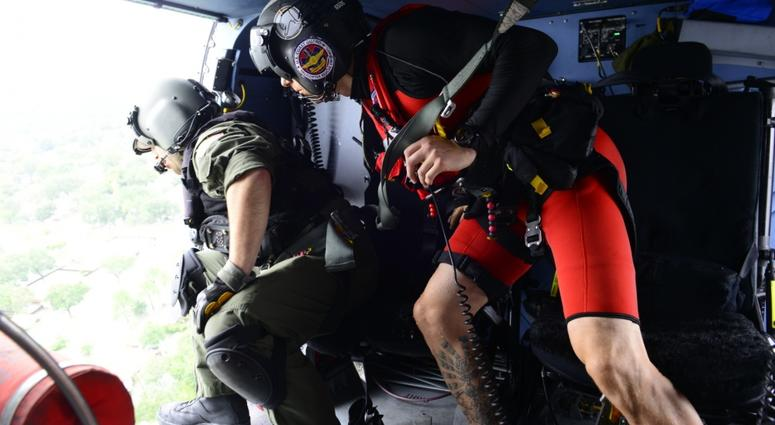The Coast Guard responds to search and rescue requests in response to Hurricane Harvey