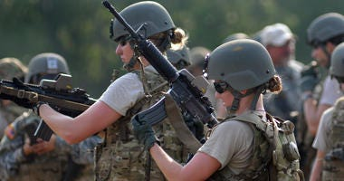 U.S. Army soldiers conduct marksmanship training during cultural support training.