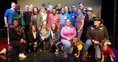 Participants in CAMMO songwriting workshop