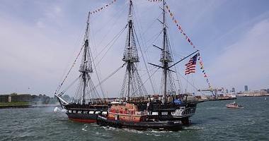 USS Constitution underway