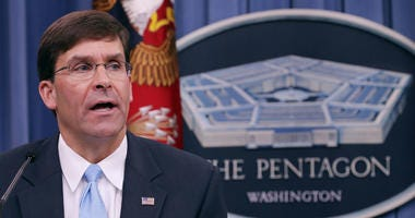 President Trump formally nominates Mark Esper to be Secretary of Defense.