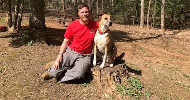 Chris Baity and pup