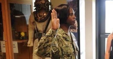 LaKeeva Gunderson promotes a junior officer