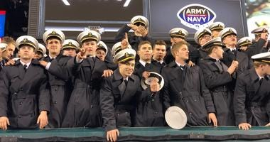 Navy cadets at Army Navy Game