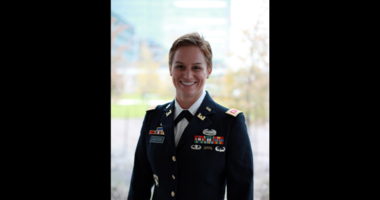 Maj. Lisa Jaster in late 2015, after her graduation from Ranger School that previous October. Now a Lieutenant Colonel Jaster is serving as the executive officer for the U.S. Army Reserve's 420th Engineer Brigade.