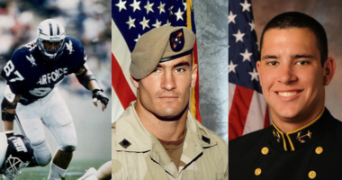 Military service members who have served in the NFL