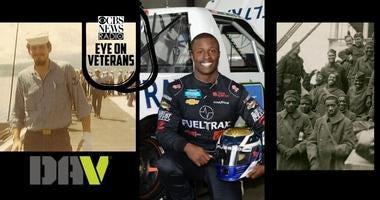 CBS Eye on Veterans covers DAVs Stephen Whitehead, NASCAR Navy veteran Jesse Iwuji  and black service members during WWI
