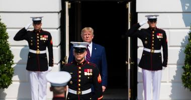 Donald Trump and Marines