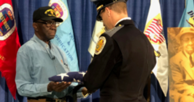 Prince George's County Police return a lost American flag to the family of the owner, a former World War I veteran.