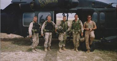 SFC Robert Gallagher, 1LT Larry Moores, 1LT Larry Perino, SFC Sean Watson and CW4 Stan Woods.