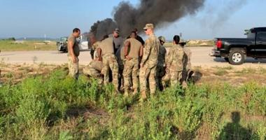 Soldiers from 9th Hospital Center, 1st Medical Brigade provide lifesaving medical intervention to casualties involved in an accident on July 10.