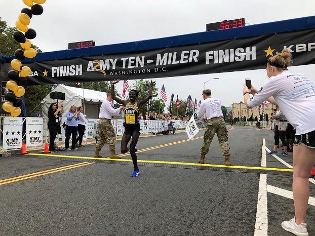 Army Ten-Miler runner