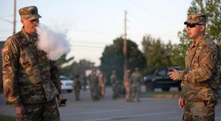 Soldier vaping