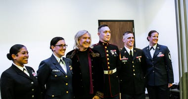 Joe Walsh and service members