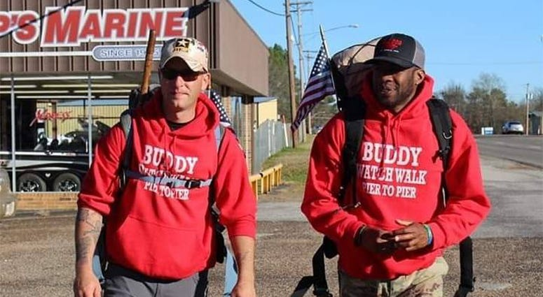Veterans walk coast to coast.