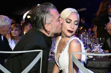 Christian Carino (L) and Lady Gaga during the 25th Annual Screen Actors Guild Awards at The Shrine Auditorium on January 27, 2019 in Los Angeles, California