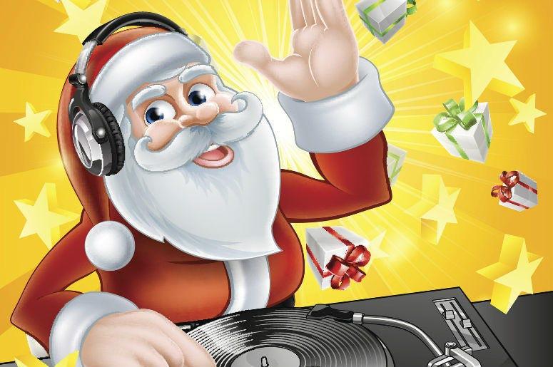 Santa Playing Records