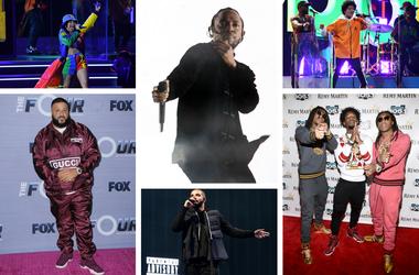 Cardi B, DJ Khaled, Kendrick Lamar, Drake, Bruno Mars, Migo