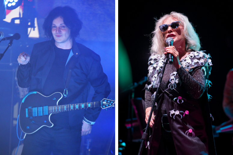 Jack White performing a free show in the courtyard of the historic George Inn pub in Borough, London, to celebrate the release of his third solo album Boarding House Reach / Debbie Harry of Blondie performs live on stage at the O2 Academy Brixton, London.