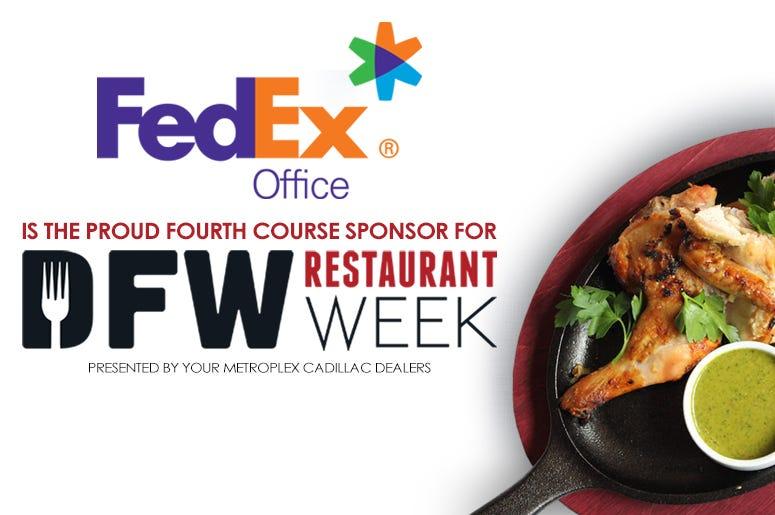 FedEx 2020 DFW Restaurant Week Sponsor