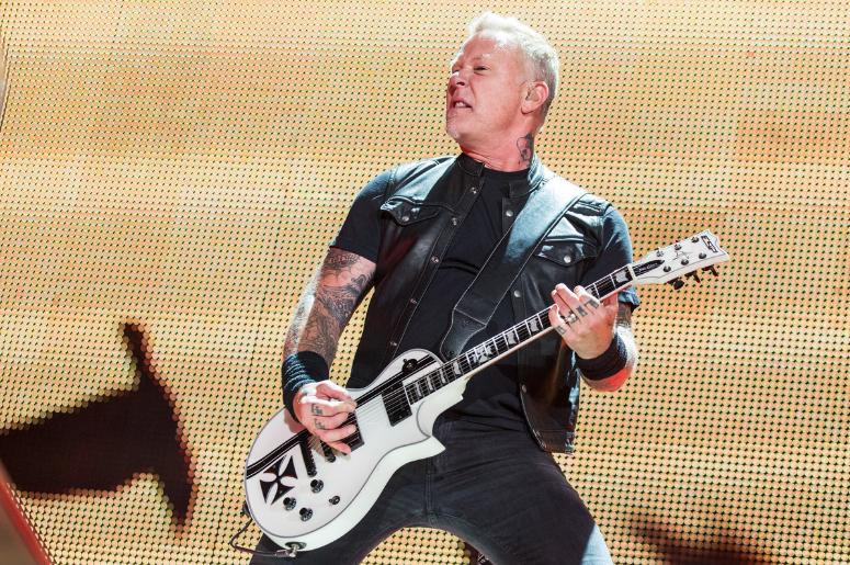 James Hetfield of Metallica during WorldWired Tour