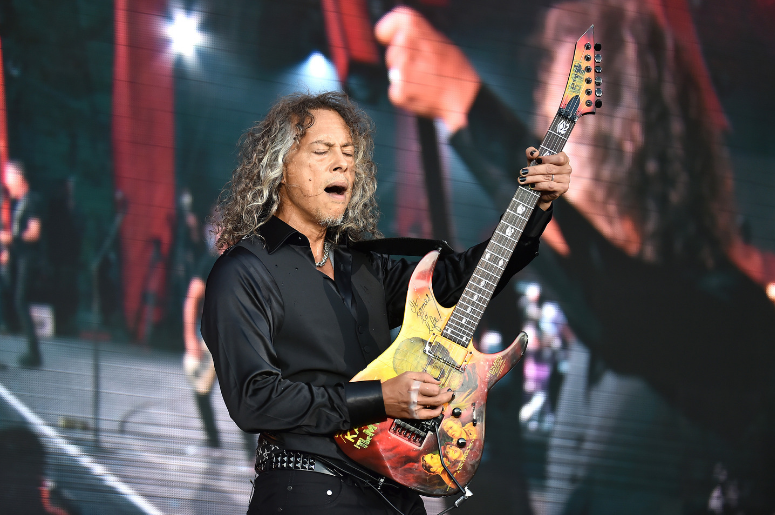Lead guitarist Kirk Hammett of Metallica performs at the 2016 Global Citizen Festival held in New City's Central Park in New York, NY