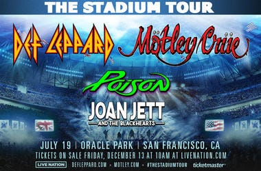 Def Leppard & Motley Crue with Poison and Joan Jett & The Black Hearts