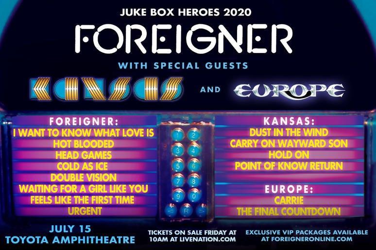 Foreigner with Kansas & Europe