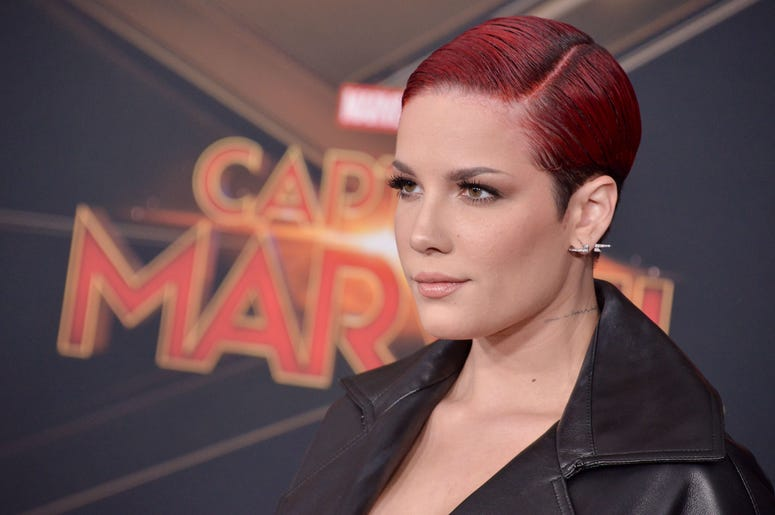 "Halsey arrives at the Marvel Studios ""Captain Marvel"" Los Angeles Premiere held at the El Capitan Theatre in Hollywood, CA on Monday, March 4, 2019"