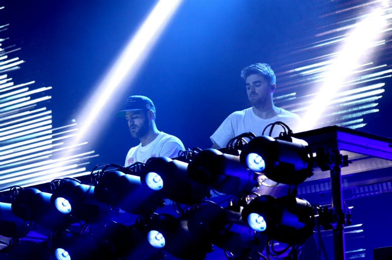 Alex Pall and Andrew Taggart of The Chainsmokers perform live